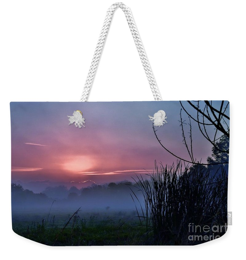 Landscape Weekender Tote Bag featuring the photograph Before Dawn by Lisa Renee Ludlum