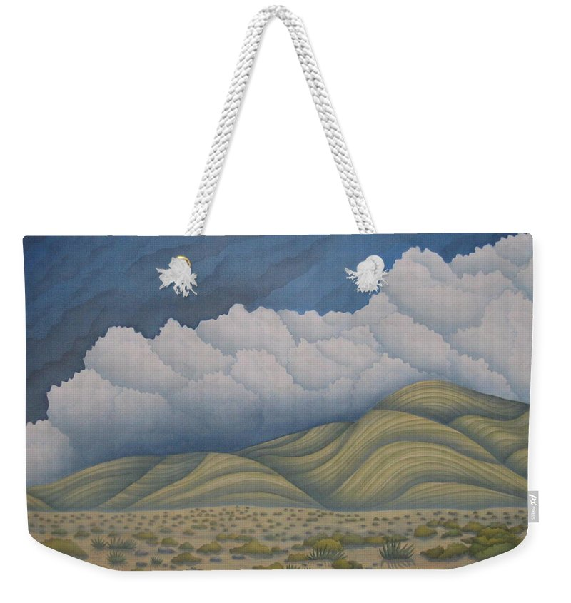 Landscape Weekender Tote Bag featuring the painting Before The Rain by Jeniffer Stapher-Thomas