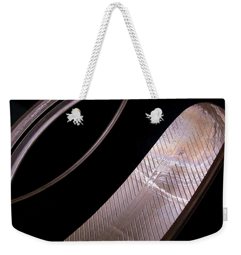 Abstract Weekender Tote Bag featuring the photograph Before The Rubber Meets The Road by Rona Black