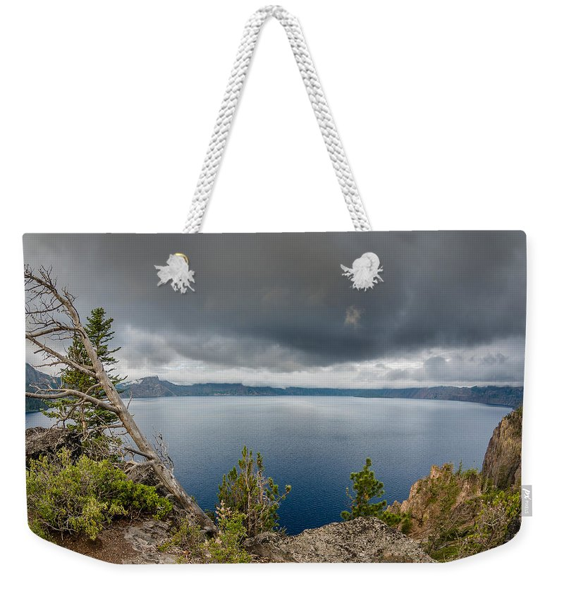 Crater Lake Weekender Tote Bag featuring the photograph Before The Storm by Greg Nyquist