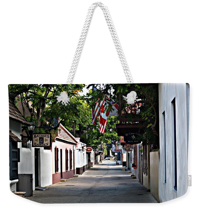 Florida Weekender Tote Bag featuring the photograph Before The Tourists 2 by Bob Johnson