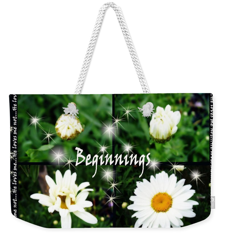 Beginnings Weekender Tote Bag featuring the photograph Beginnings by Cathy Beharriell