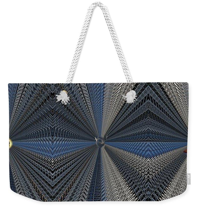Abstract Weekender Tote Bag featuring the digital art Behind Door Number 3 by Tim Allen