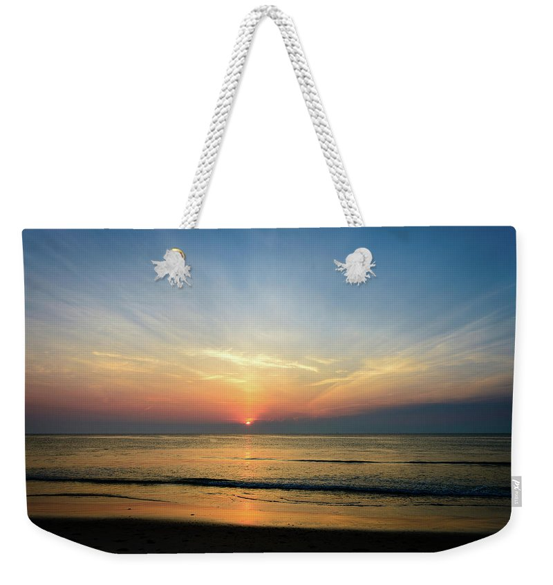 Landscape Weekender Tote Bag featuring the photograph Behind The Clouds by Michael Scott