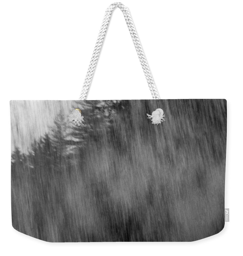 Waterfalls Weekender Tote Bag featuring the photograph Behind The Falls by Richard Rizzo