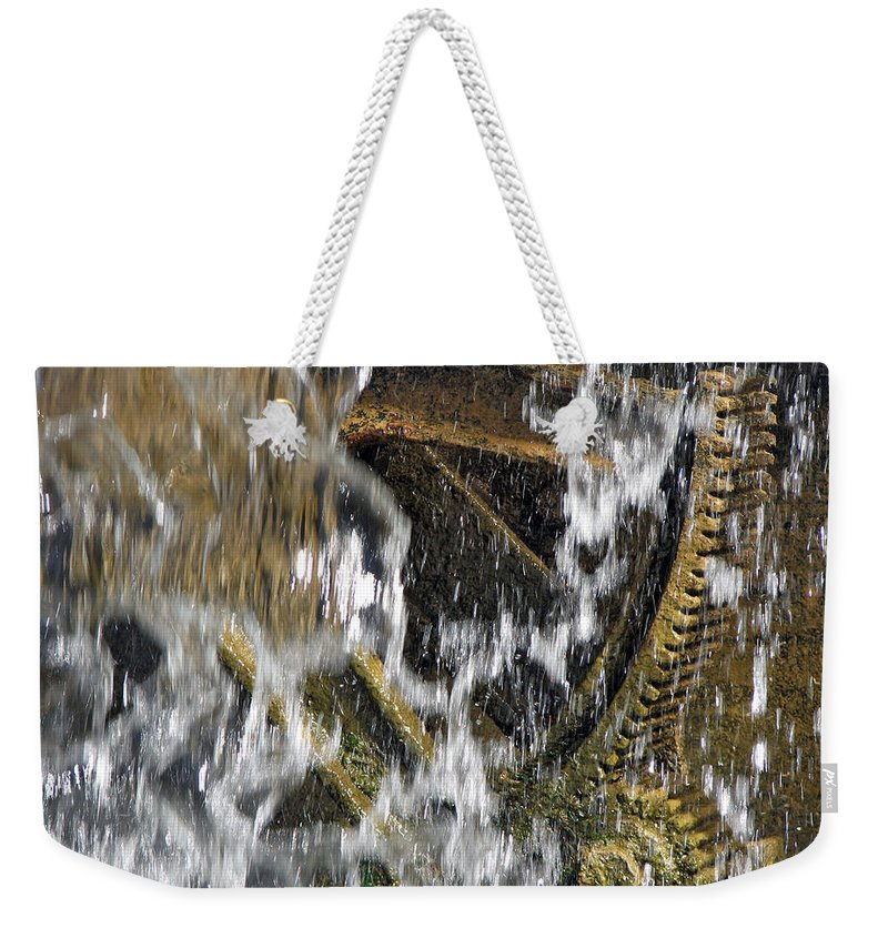 Behind The Scenes Weekender Tote Bag featuring the photograph Behind The Scenes by Lisa S Baker