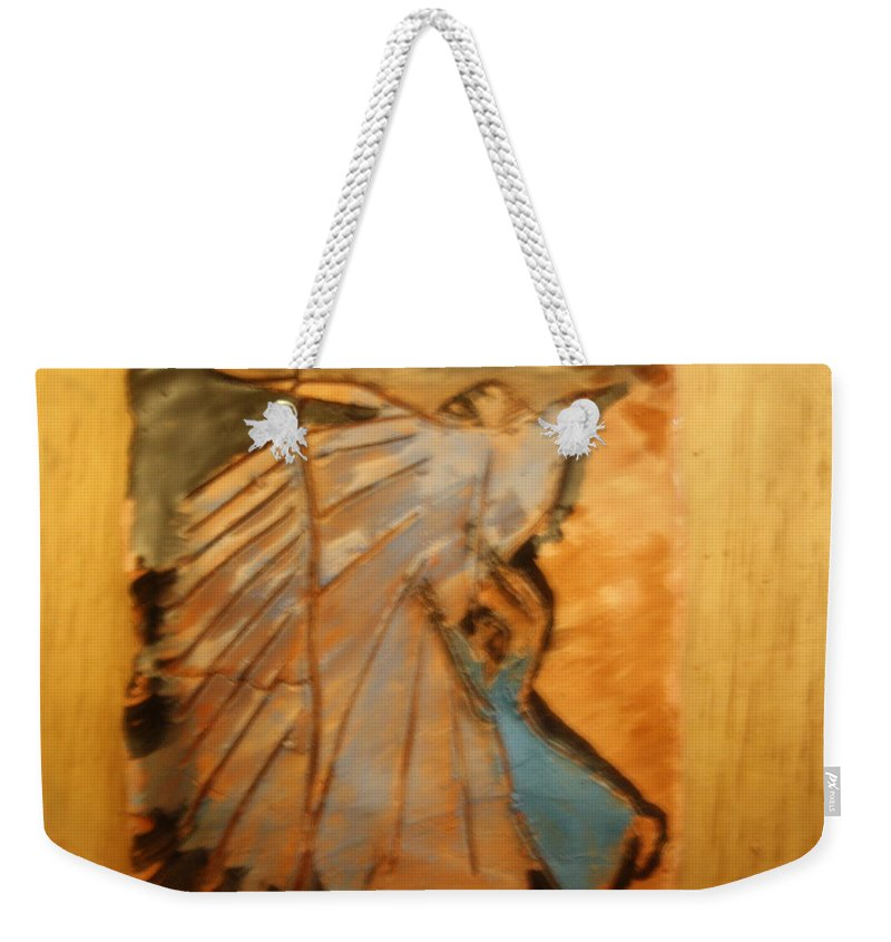Jesus Weekender Tote Bag featuring the ceramic art Behold - Tile by Gloria Ssali