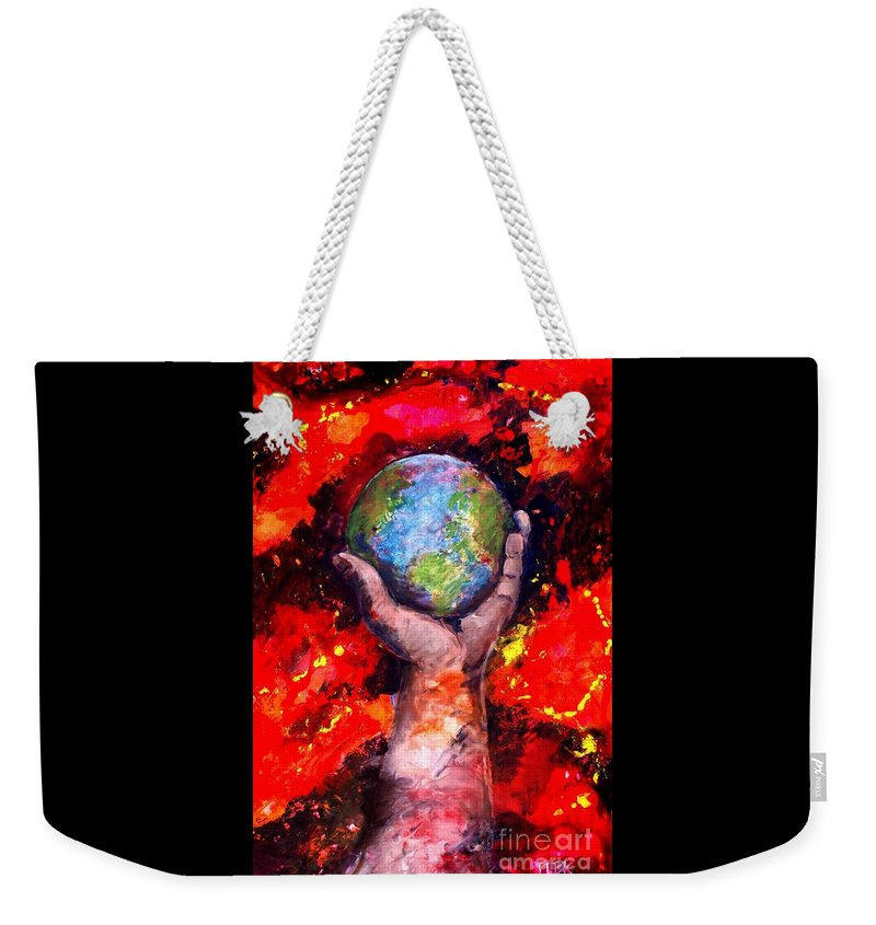 World Weekender Tote Bag featuring the painting Behold by Patty Kingsley
