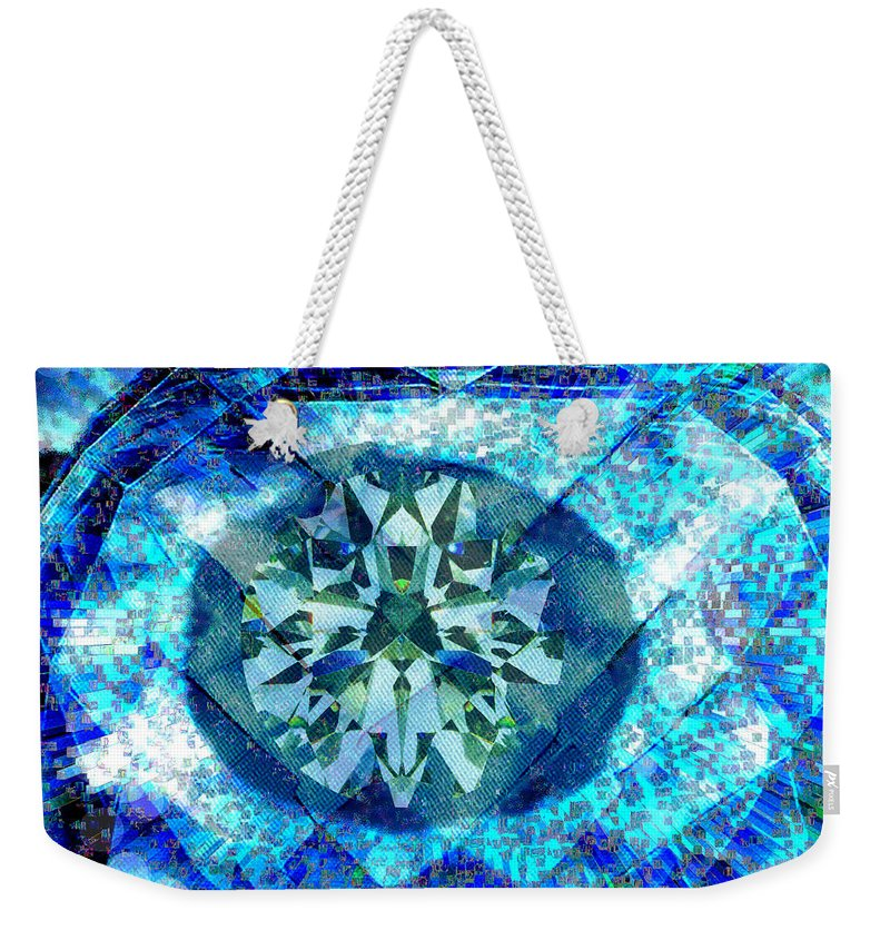 Abstract Weekender Tote Bag featuring the digital art Behold The Jeweled Eye by Seth Weaver
