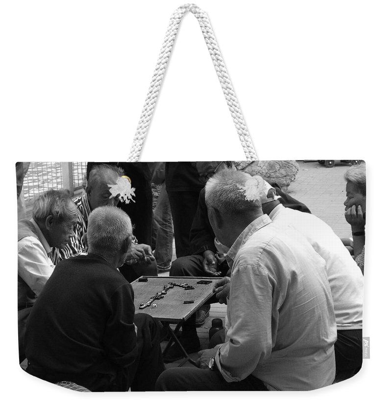 Beijing Weekender Tote Bag featuring the photograph Beijing City 12 by Xueling Zou