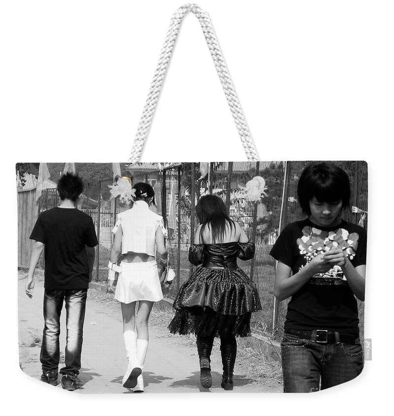 Beijing Weekender Tote Bag featuring the photograph Beijing City 13 by Xueling Zou