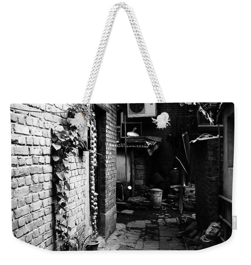 Beijing Weekender Tote Bag featuring the photograph Beijing City 17 by Xueling Zou