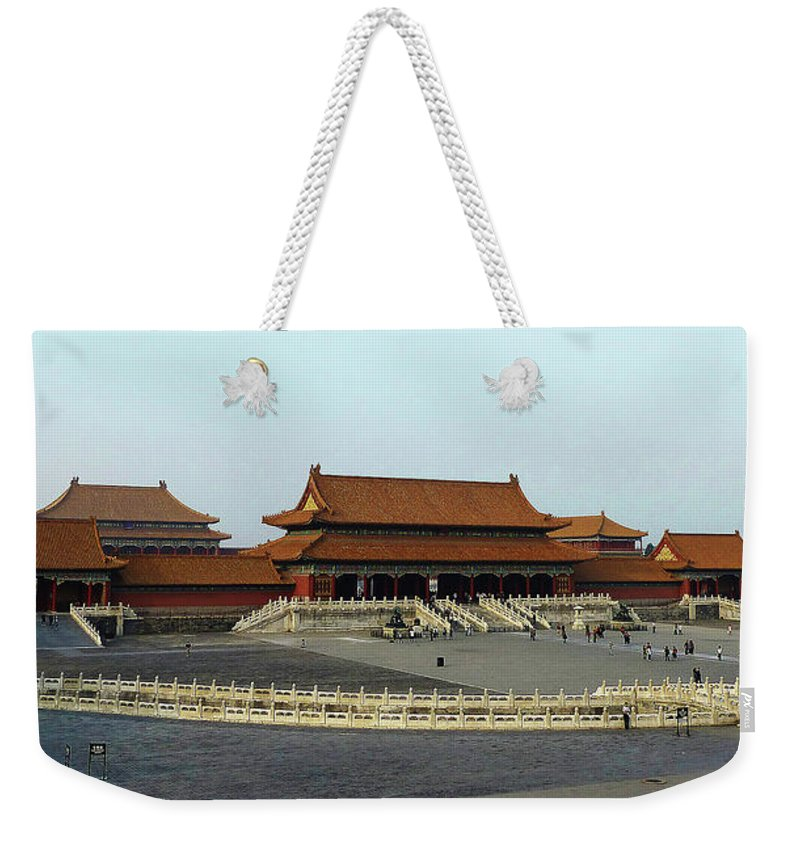 Beijing Weekender Tote Bag featuring the photograph Beijing City 28 by Xueling Zou