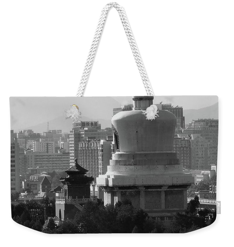 Beijing Weekender Tote Bag featuring the photograph Beijing City 3 by Xueling Zou
