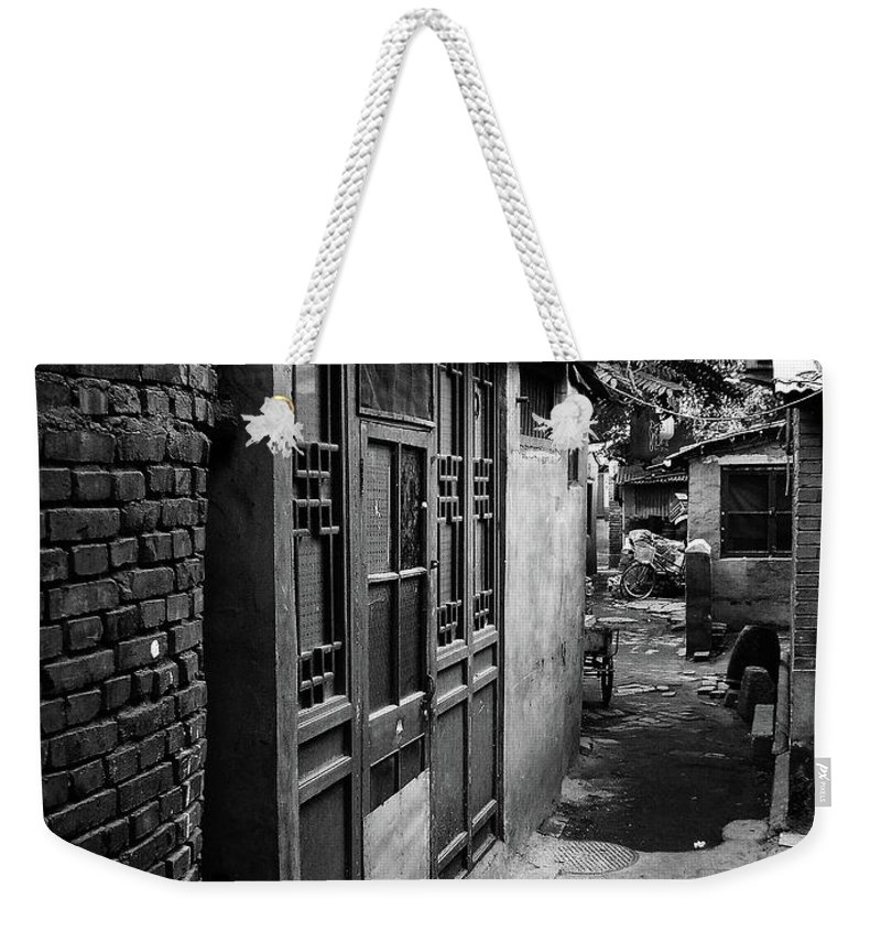 Beijing Weekender Tote Bag featuring the photograph Beijing City 6 by Xueling Zou