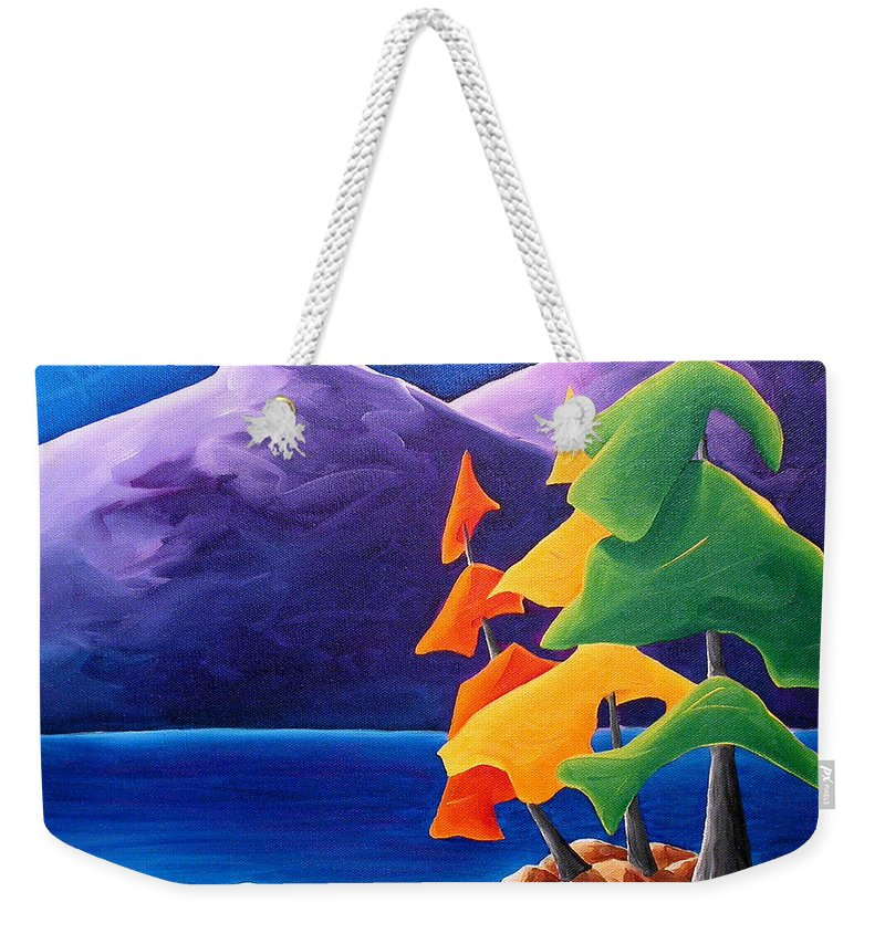 Landscape Weekender Tote Bag featuring the painting Being Thankful by Richard Hoedl