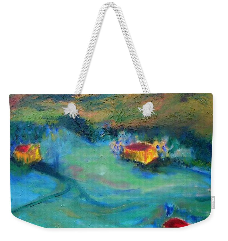 Landscape Weekender Tote Bag featuring the painting Beit Shemesh by Suzanne Udell Levinger