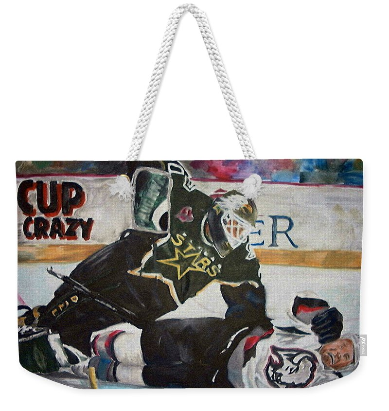 Belfour Weekender Tote Bag featuring the painting Belfour by Travis Day