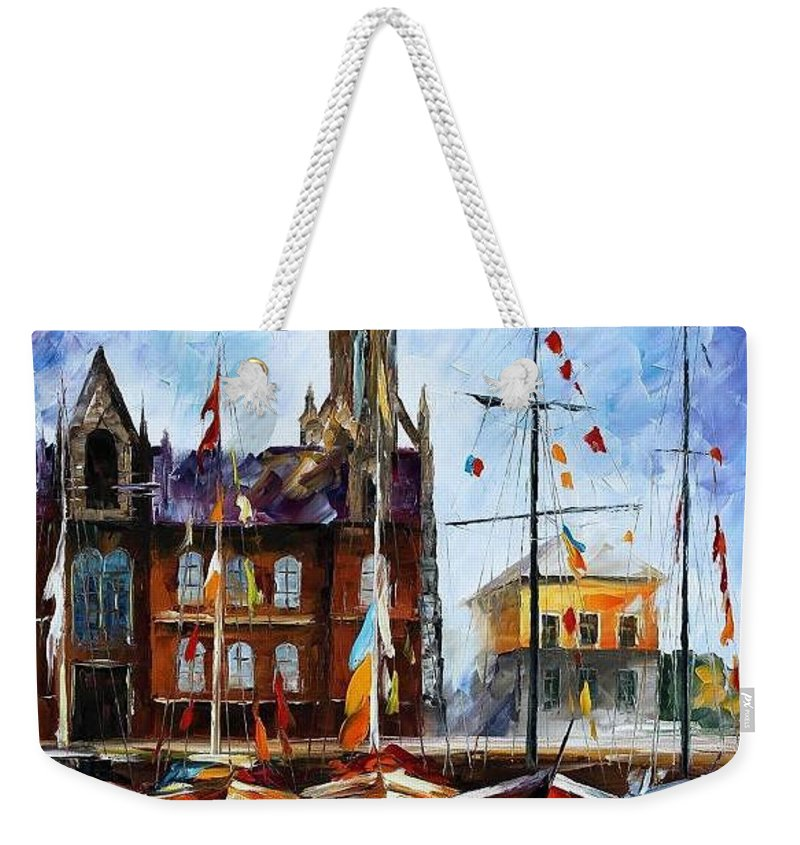 Afremov Weekender Tote Bag featuring the painting Belgium by Leonid Afremov