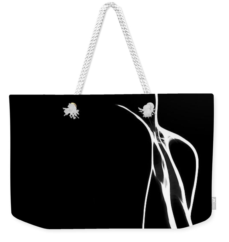 Dark Weekender Tote Bag featuring the painting Believe In Love by Steve K