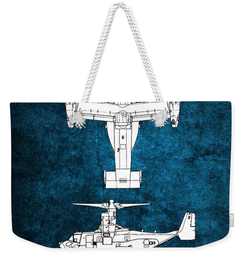 V22 Weekender Tote Bag featuring the digital art Bell Boeing V-22 Osprey by J Biggadike