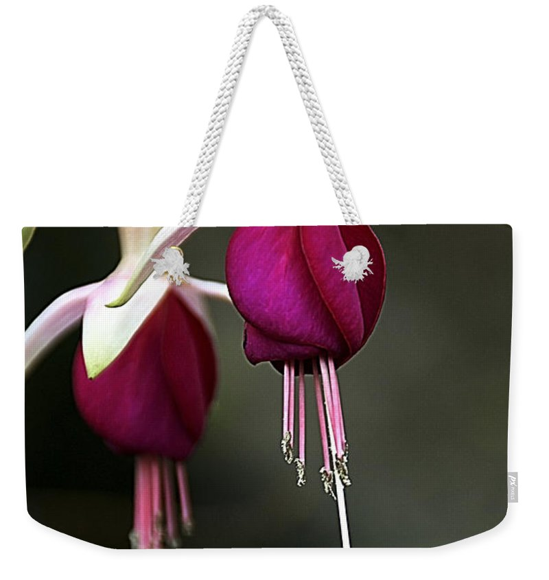 Flower Weekender Tote Bag featuring the photograph Bell Flower by Vladi Alon