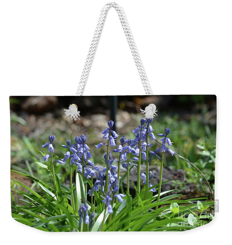 Bell Flowers Weekender Tote Bag featuring the photograph Bell Flowers by Ruth Housley