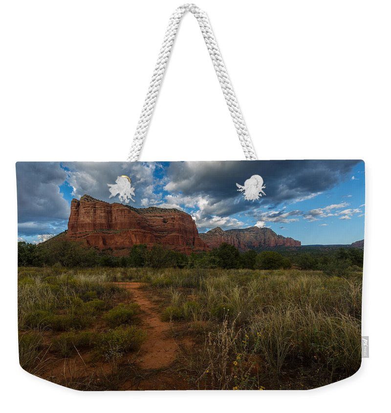 Courthouse Butte Weekender Tote Bag featuring the photograph Courthouse Butte Sedona Arizona by Billy Bateman