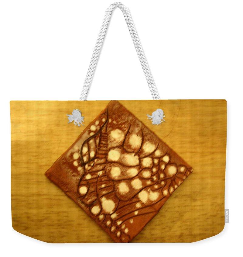 Jesus Weekender Tote Bag featuring the ceramic art Bella - Tile by Gloria Ssali
