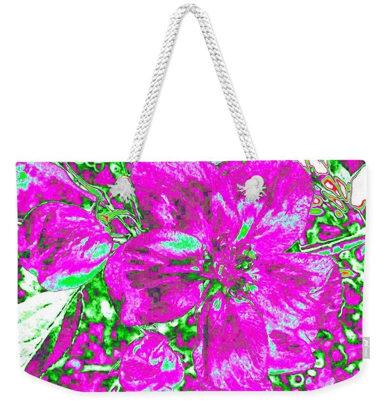 Bella Flora Weekender Tote Bag featuring the digital art Bella Flora 2 by Will Borden