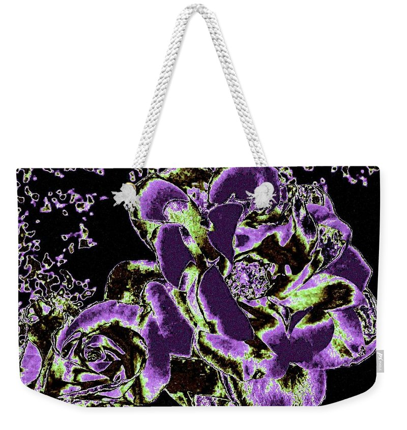Bella Flora Weekender Tote Bag featuring the digital art Bella Flora 5 by Will Borden