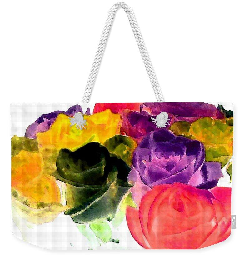 Bella Flora Weekender Tote Bag featuring the digital art Bella Flora 6 by Will Borden