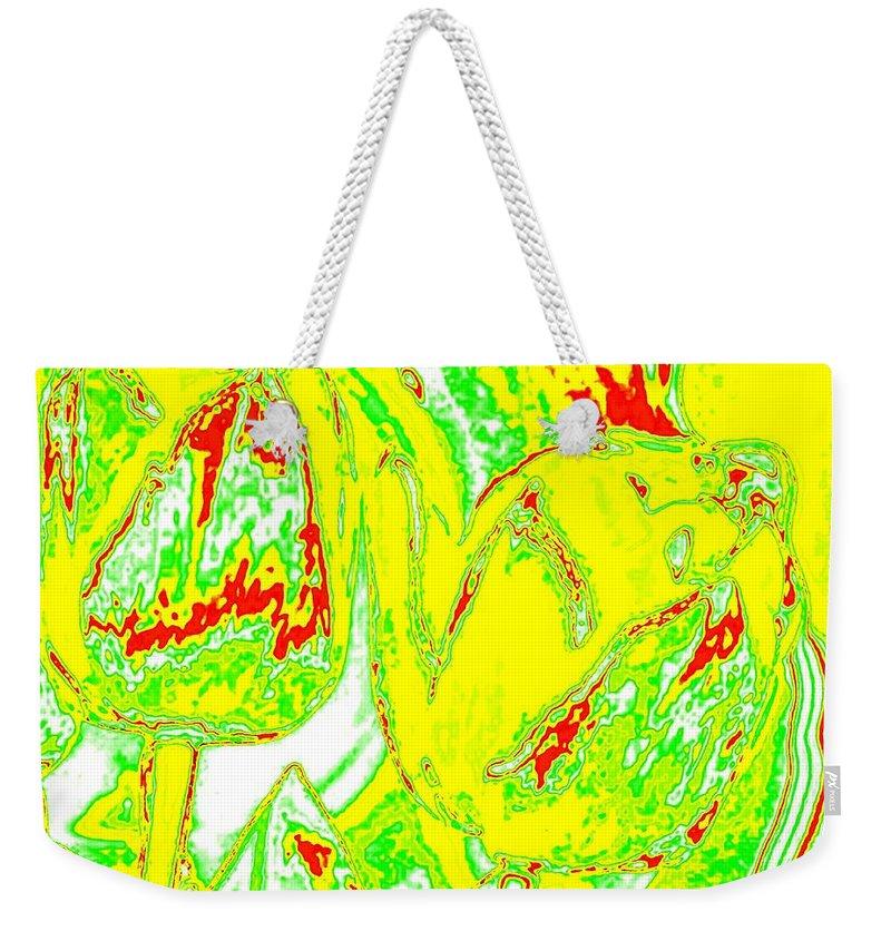 Bella Flora Weekender Tote Bag featuring the digital art Bella Flora 7 by Will Borden
