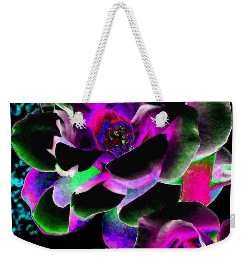 Bella Flora Weekender Tote Bag featuring the digital art Bella Flora 8 by Will Borden