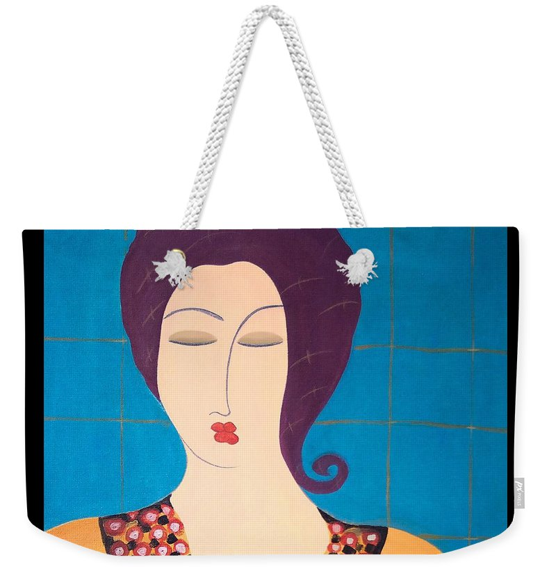 #female #figurative #photography # Fineart #art #images #painting #artist #painter #artlover Weekender Tote Bag featuring the painting Bella by Jacquelinemari