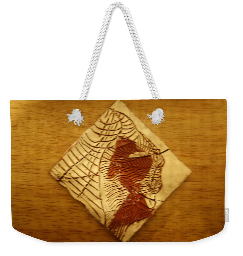 Jesus Weekender Tote Bag featuring the ceramic art Belle - Tile by Gloria Ssali