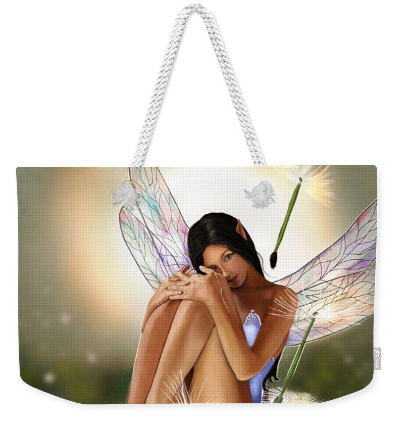 Fairy Weekender Tote Bag featuring the painting Belle by Maggie Terlecki