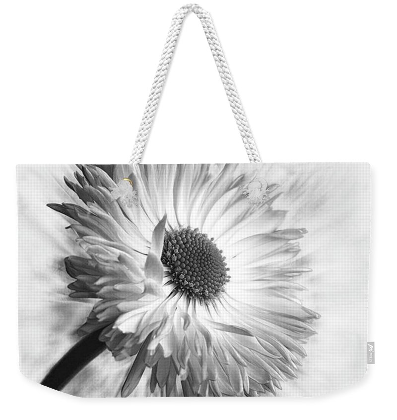 Beautiful Weekender Tote Bag featuring the photograph Bellis In Mono  #flower #flowers by John Edwards