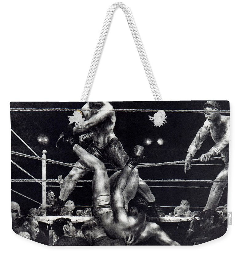 1923 Weekender Tote Bag featuring the photograph Dempsey, 1924 by George Bellows