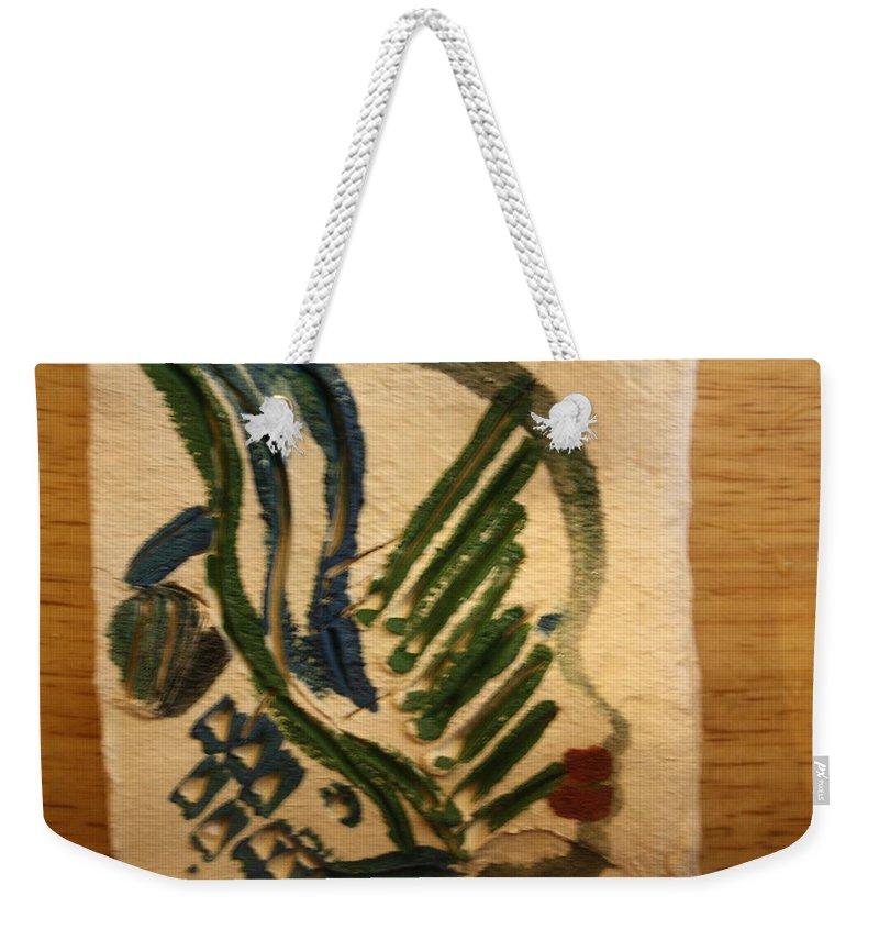 Jesus Weekender Tote Bag featuring the ceramic art Bells - Tile by Gloria Ssali