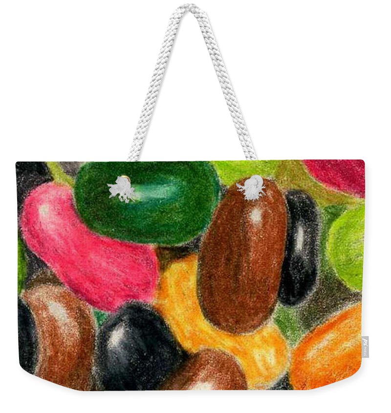 Colored Pencil Weekender Tote Bag featuring the painting Belly Jelly by Lynne Reichhart