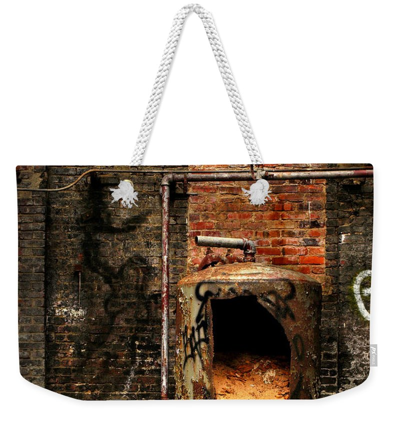 Factory Weekender Tote Bag featuring the photograph Belly Of The Beast by J K York