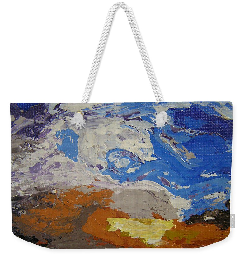 Sunset Weekender Tote Bag featuring the painting Belonging by Ricklene Wren