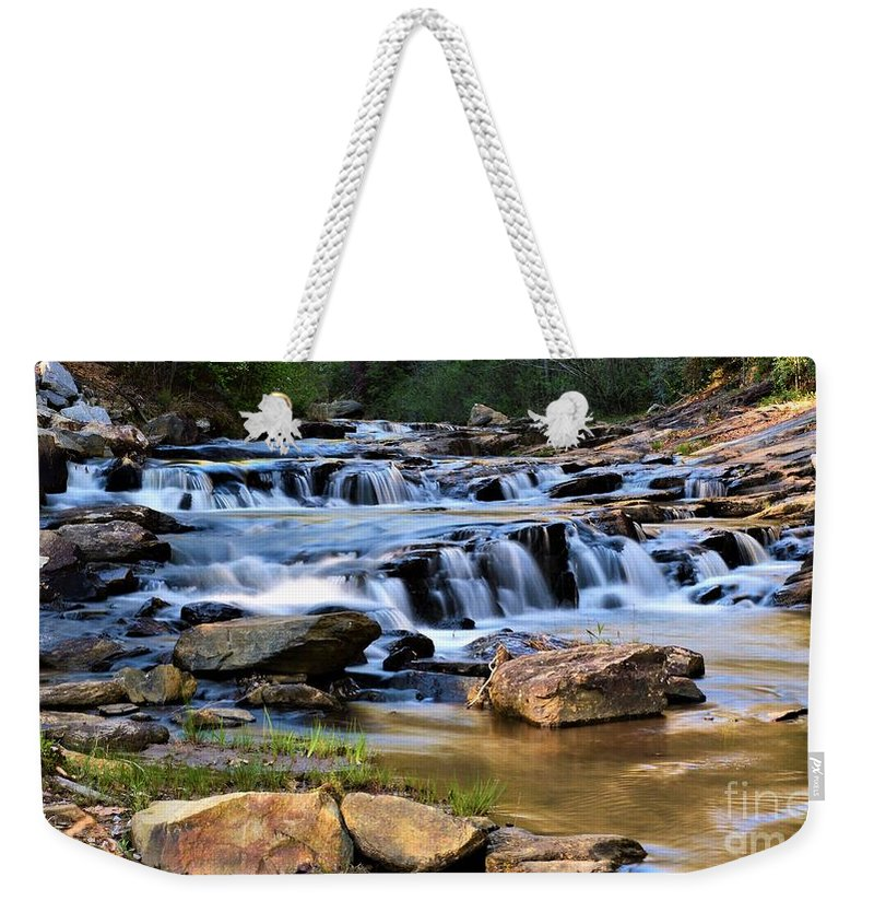 Toccoa Falls College Weekender Tote Bag featuring the photograph Below Toccoa Falls by Dennis Nelson