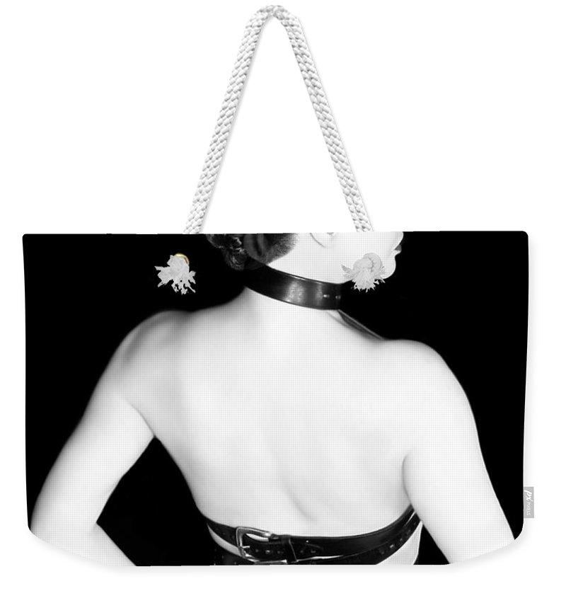 Artistic Weekender Tote Bag featuring the photograph Belted 2 - Self Portrait by Jaeda DeWalt