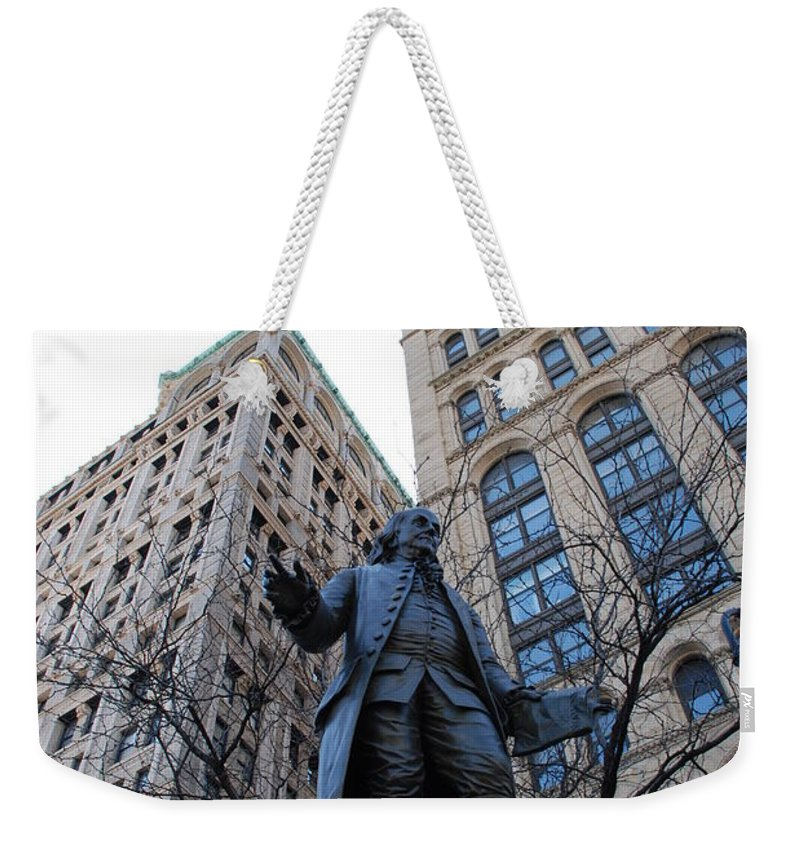 Architecture Weekender Tote Bag featuring the photograph Ben Franklin by Rob Hans