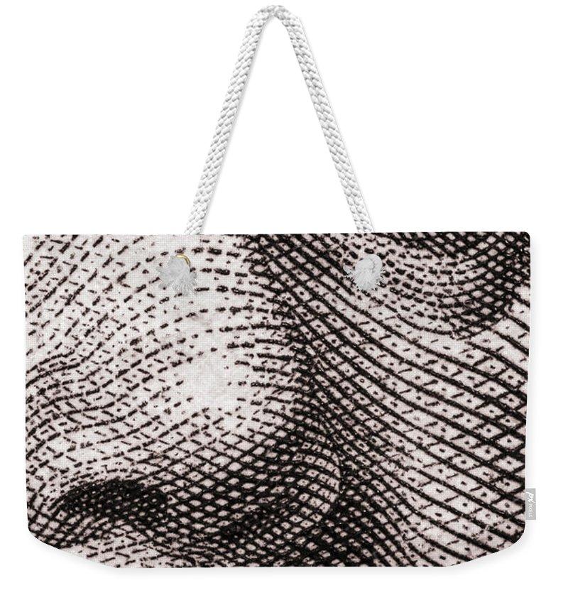 Ben Weekender Tote Bag featuring the photograph Ben Franklin by Robert Storost