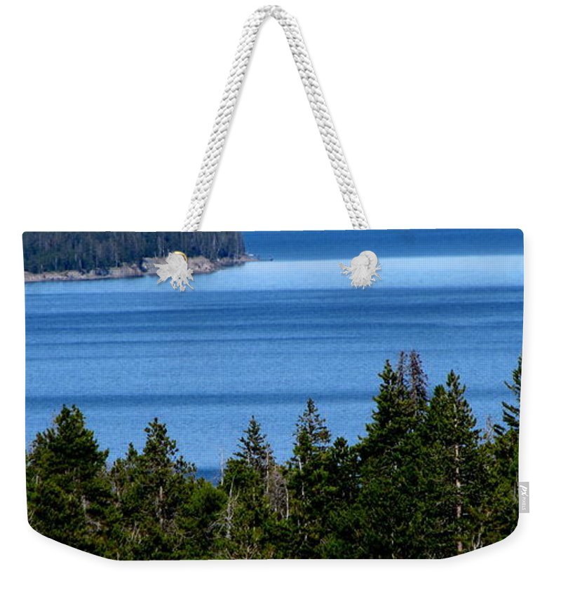 Patzer Weekender Tote Bag featuring the photograph Bend In Columbia by Greg Patzer