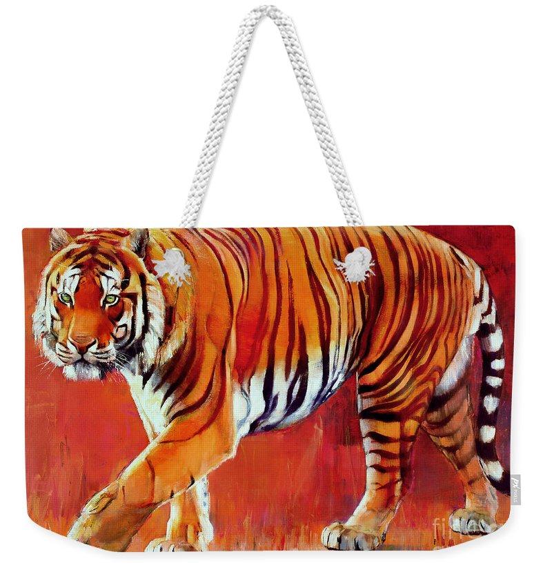 Tiger Weekender Tote Bags
