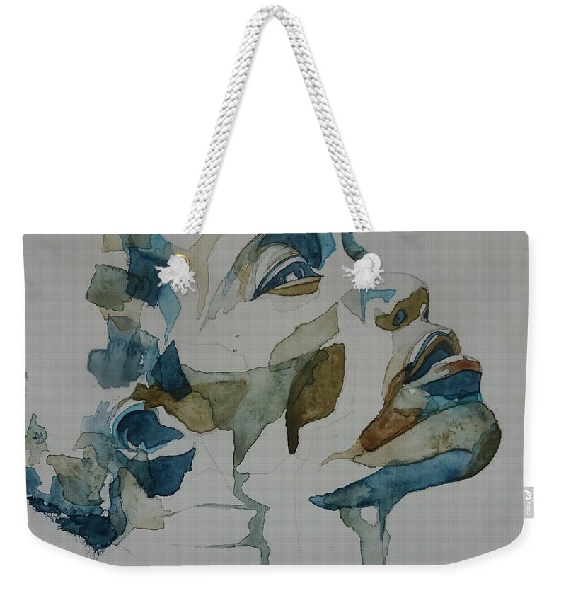 English Weekender Tote Bag featuring the painting Benjamin Clementine by Paul Lovering